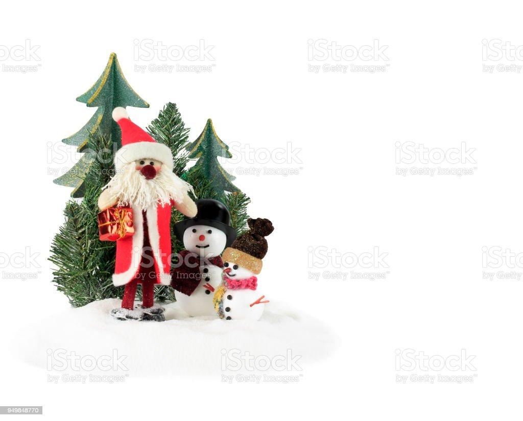 Christmas Christmas Decoration Christmas Ornament Christmas Tree Decoration Santa Clause And Two
