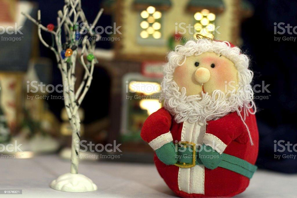 Santa Clause in Village stock photo