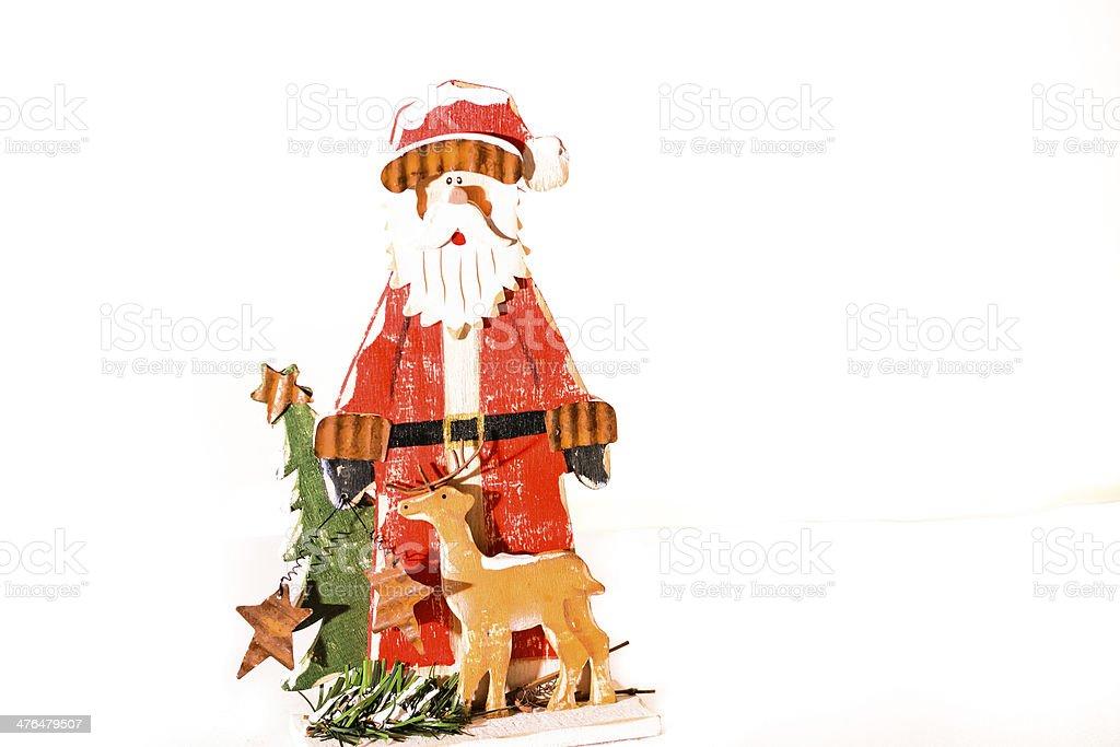 Santa clause with tree royalty-free stock photo