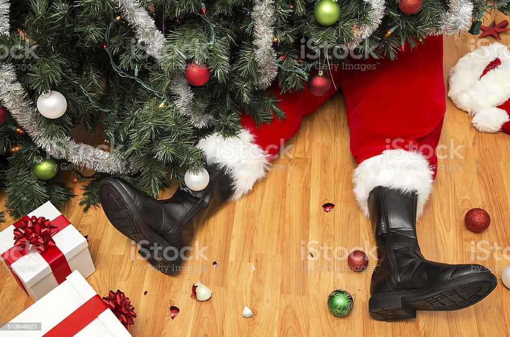 Santa Claus de catástrofe - fotografia de stock