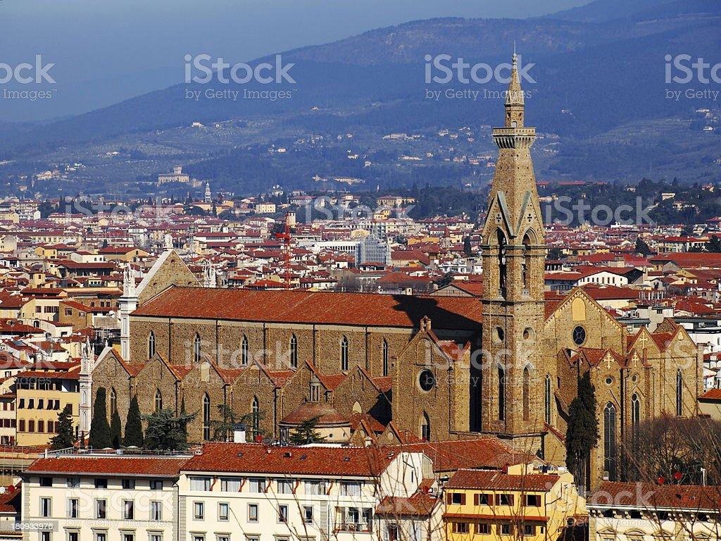 Santa Croce, Florence stock photo