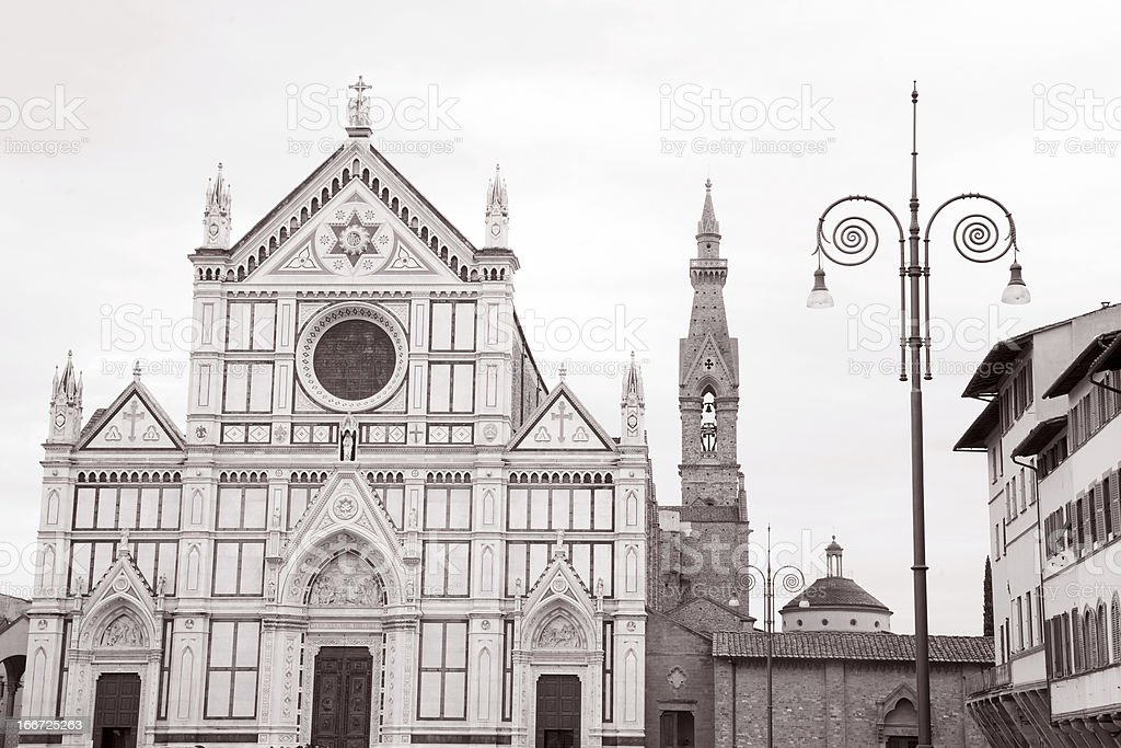 Santa Cruce Church, Florence royalty-free stock photo