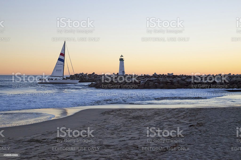 Santa Cruiz - The Sailboat royalty-free stock photo