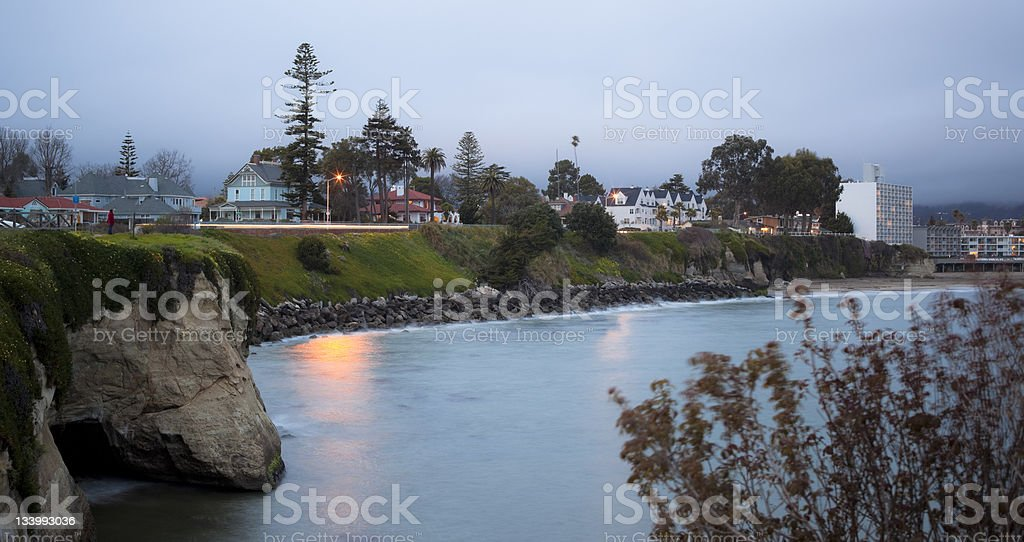 Santa Cruz at dusk stock photo