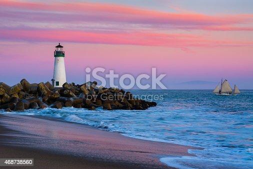 istock Santa Cruz Breakwater Lighthouse 468738560