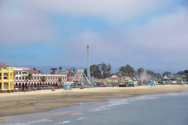 Santa Cruz, California Beach and Boardwalk stock photo