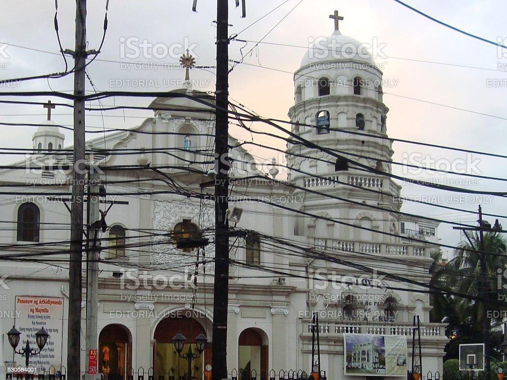 Santa Cruz church, Manila Philippines stock photo