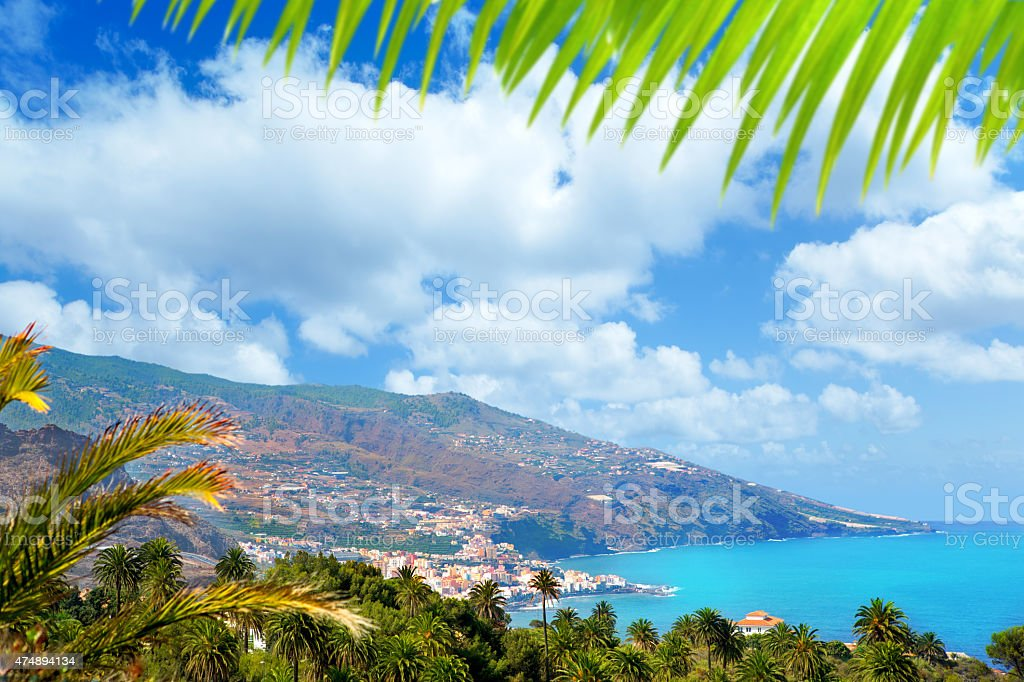 Santa Cruz de La Palma in Atlantic Canary islands stock photo