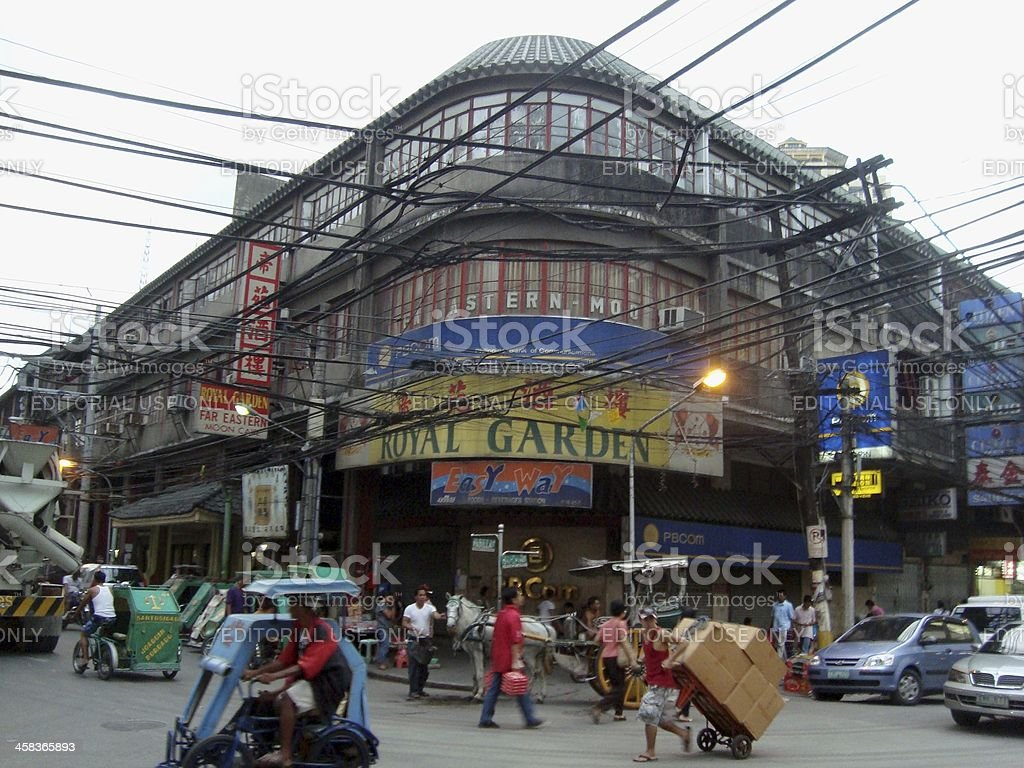 Santa Cruz district, urban scene in Manila Philippines stock photo