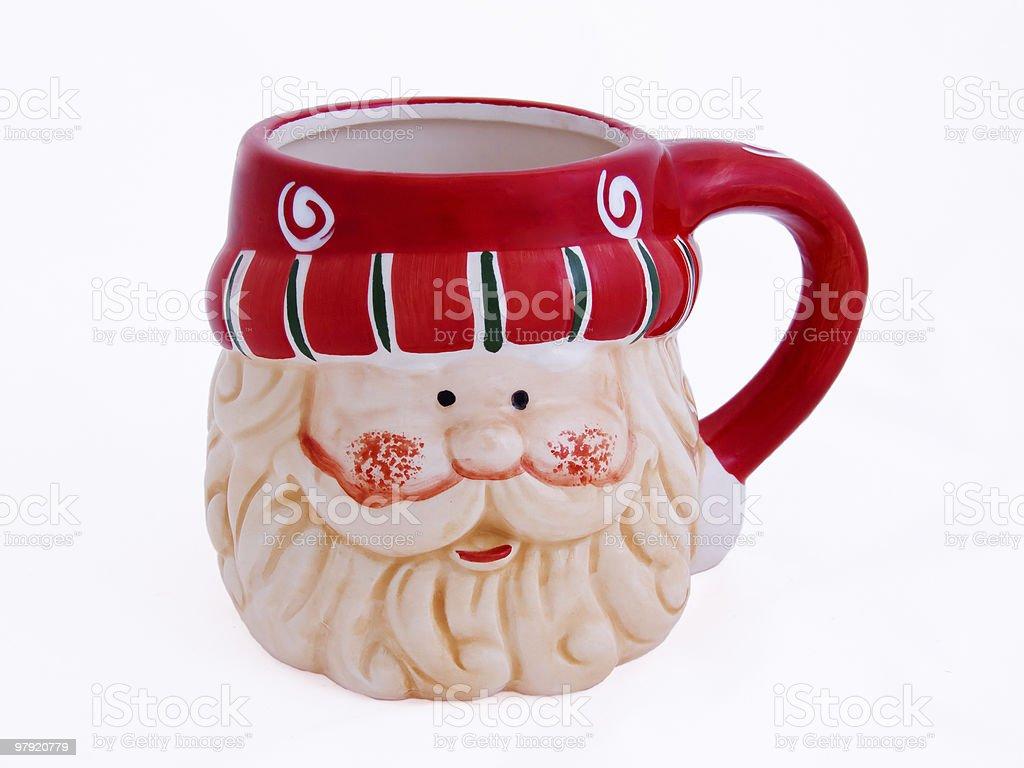 Santa cup royalty-free stock photo
