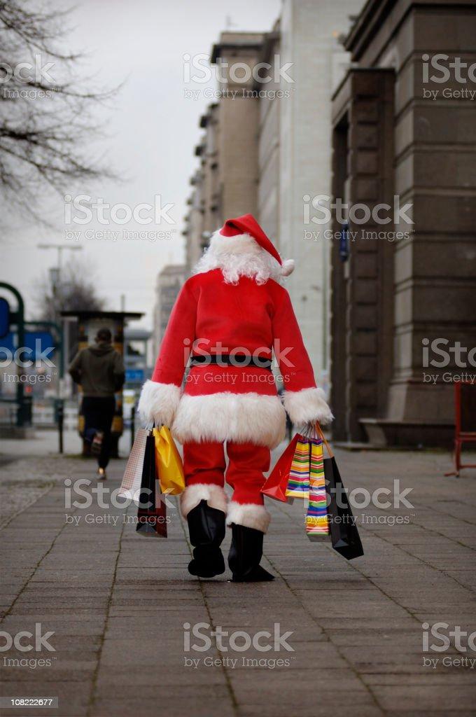 Santa done with shopping... royalty-free stock photo
