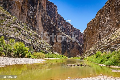 istock Santa Elena Canyon and the Rio Grande River at Big Bend National Park in Texas form the border between the United States and Mexico. 1257759749
