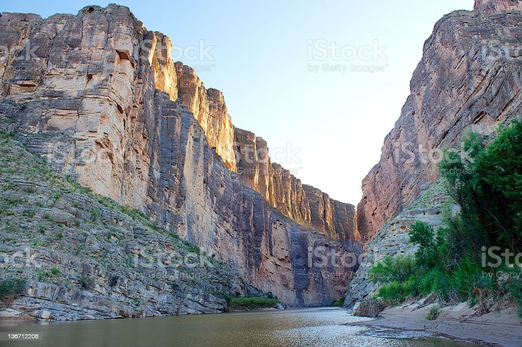 Santa Elena Canyon, Big Bend NP, Texas and Mexico border stock photo