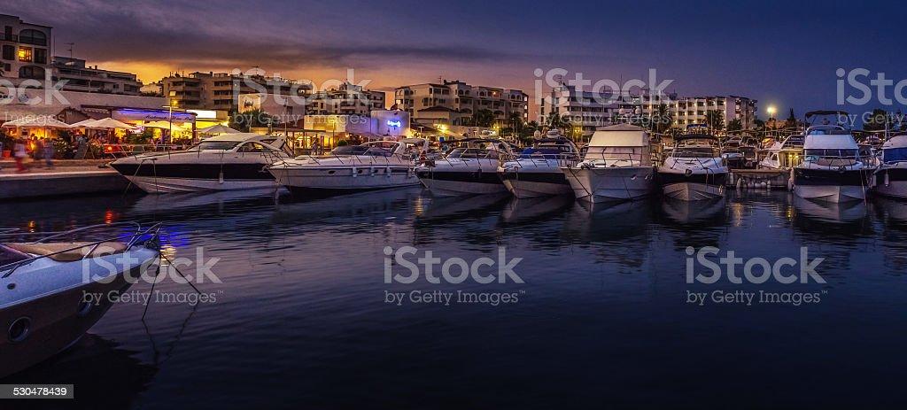 santa eularia des riu docks stock photo