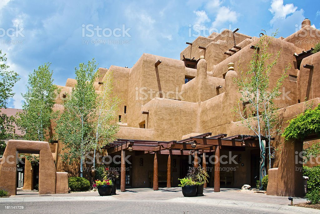 Santa Fe Adobe House royalty-free stock photo