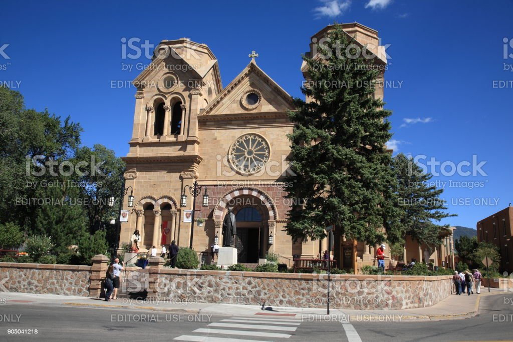 Santa Fe - Basilica of St. Francis of Assisi stock photo