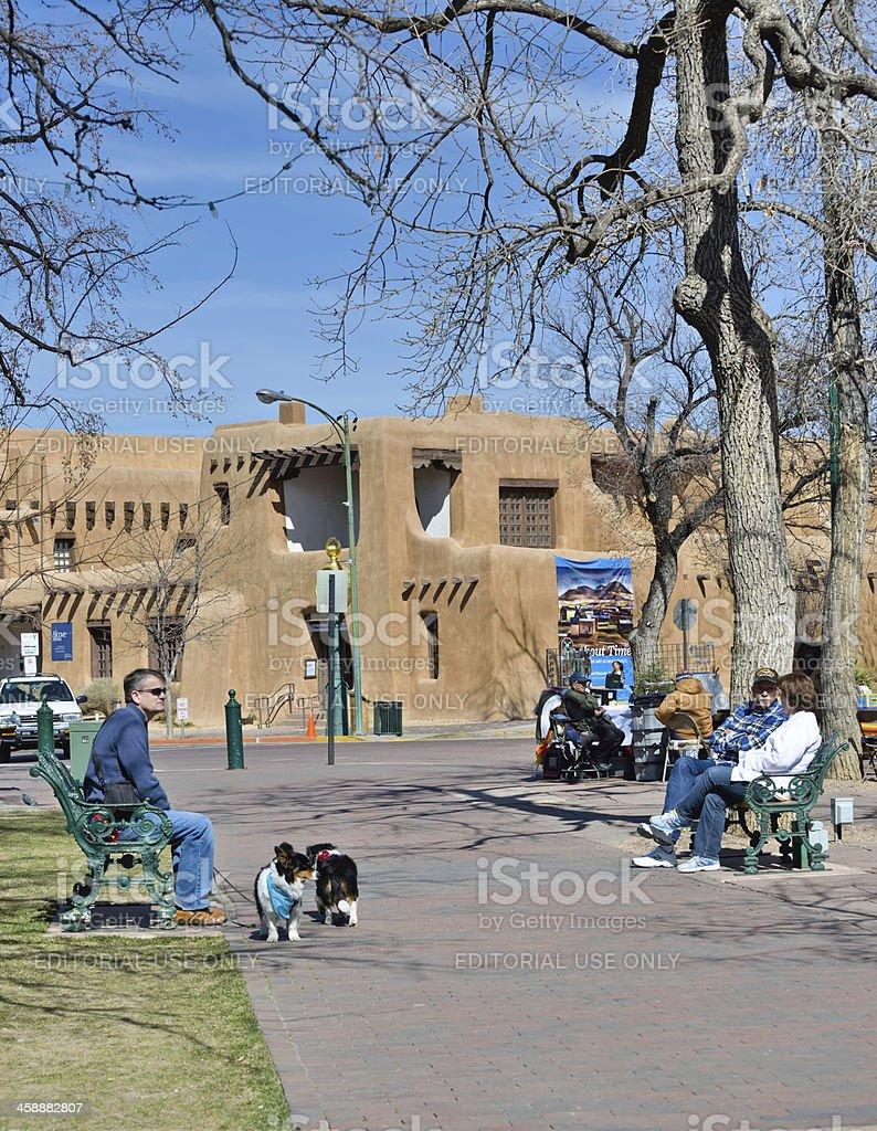 Santa Fe City Life royalty-free stock photo