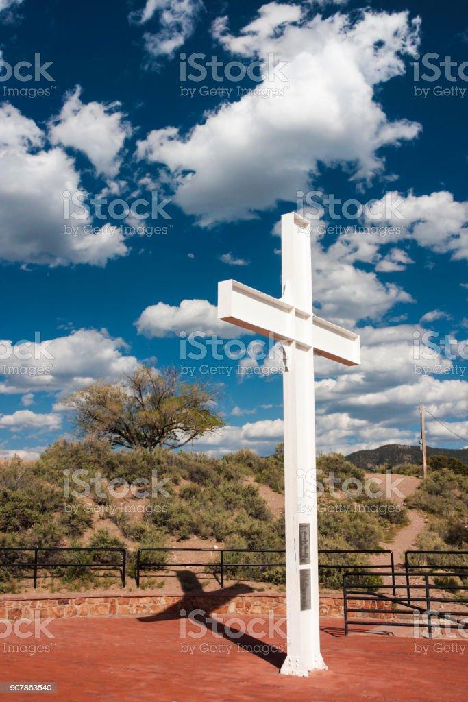 Santa Fe Cross of the Martyrs stock photo