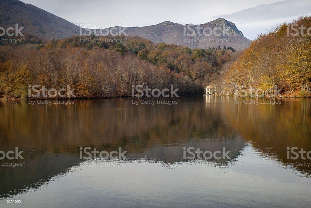 Santa Fe lake in The Montseny.Catalonia.Spain stock photo