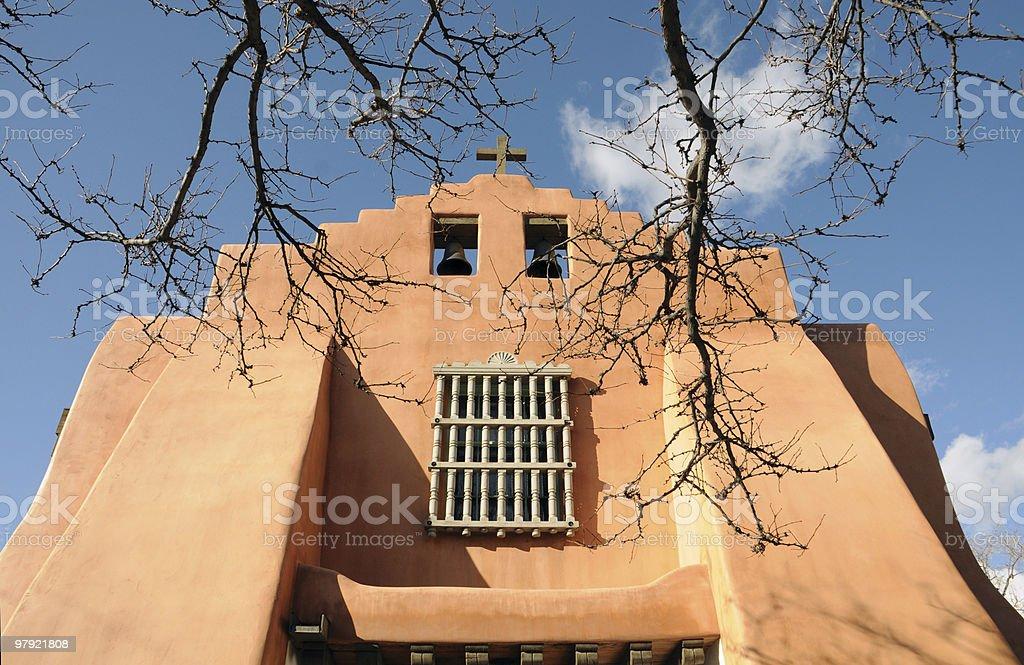 Santa Fe, New Mexico Church royalty-free stock photo