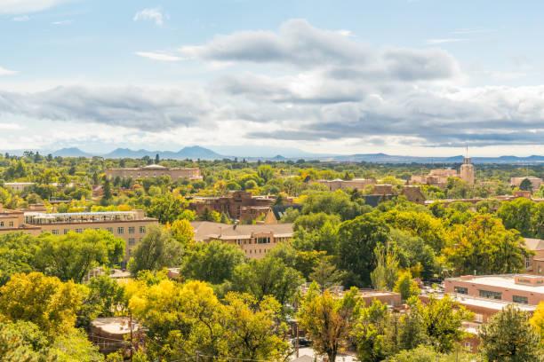 Santa Fe, New Mexico Skyline stock photo