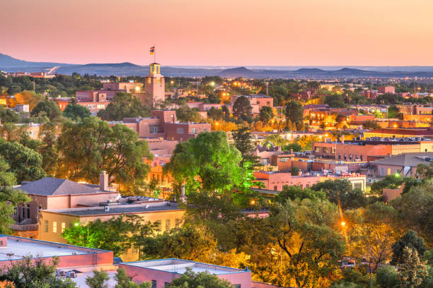 Santa Fe, New Mexico, USA stock photo
