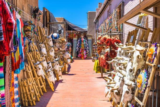 Santa Fe, New Mexico, USA Traditional Market stock photo