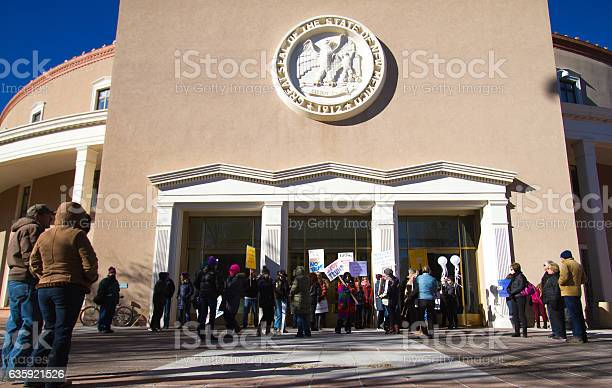 Santa Fe, NM: Anti-Trump Protesters at Electoral College Meeting
