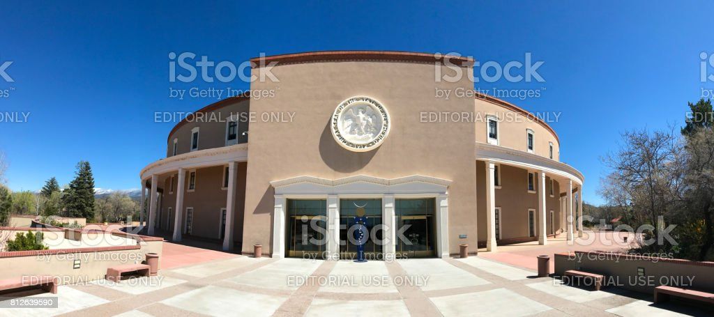 Santa Fe, NM: New Mexico State Capitol Building stock photo