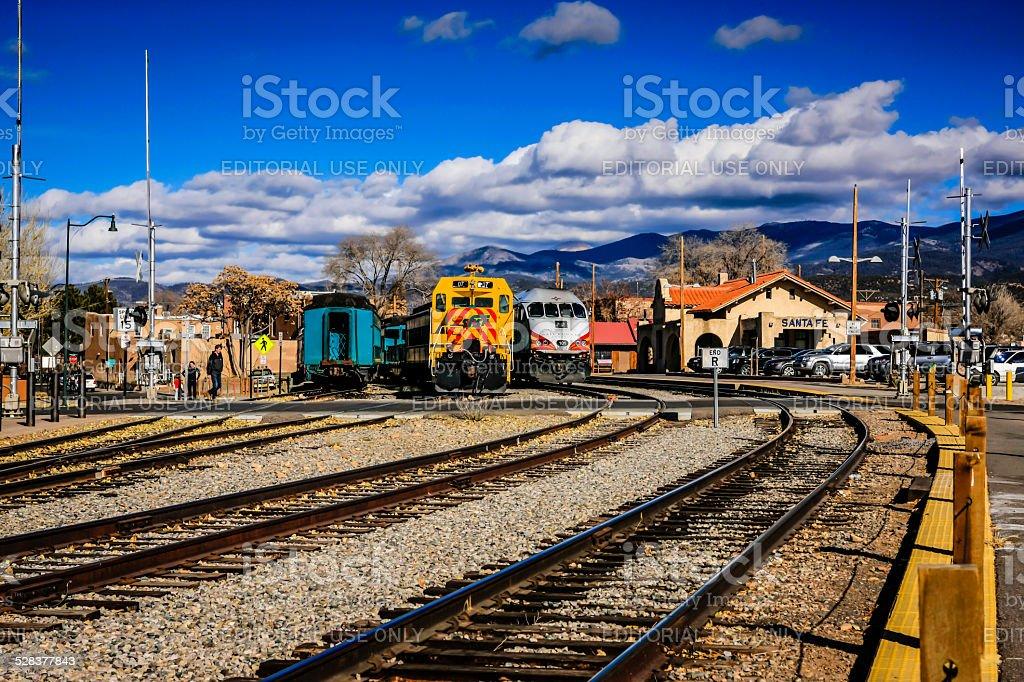 Santa Fe railroad terminus in New Mexico stock photo