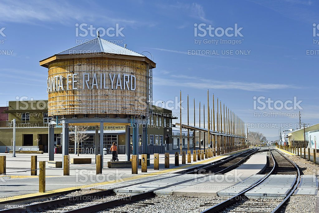 Santa Fe Railyard stock photo
