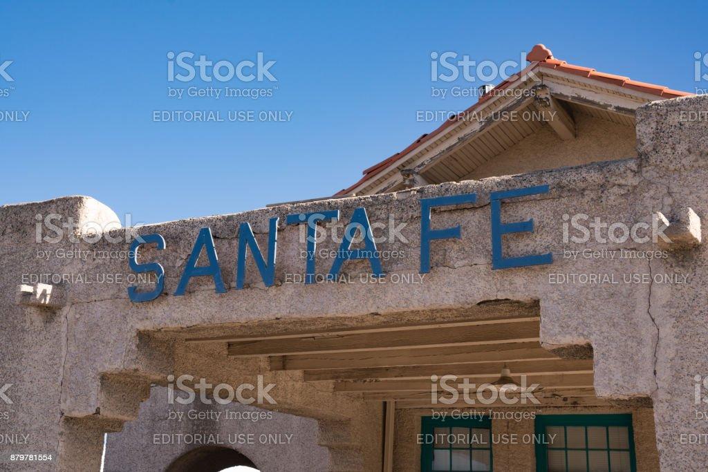 Santa Fe Sign stock photo