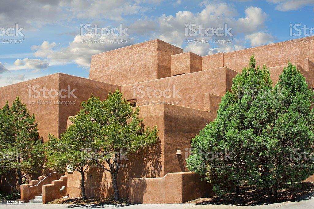 Santa Fe Southwest Adobe Architecture royalty-free stock photo