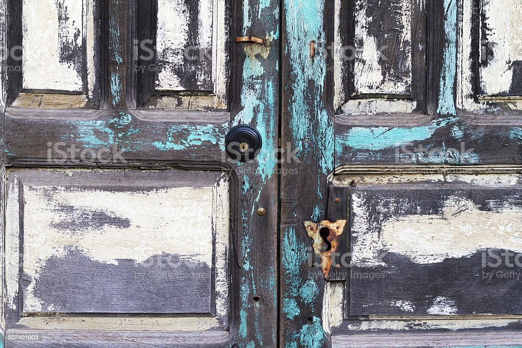 Santa Fe Style Mesquite Doors in Turquoise and White (Detail) royalty-free & Santa Fe Style Mesquite Doors In Turquoise And White stock photo ...