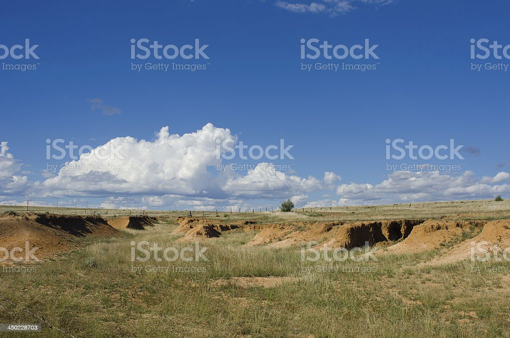 Santa Fe Trail Ruts on the Mountain Branch royalty-free stock photo