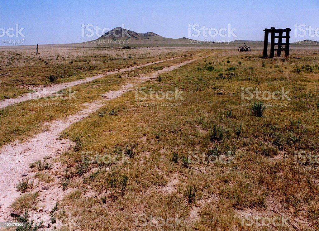 Santa Fe Trail Ruts royalty-free stock photo