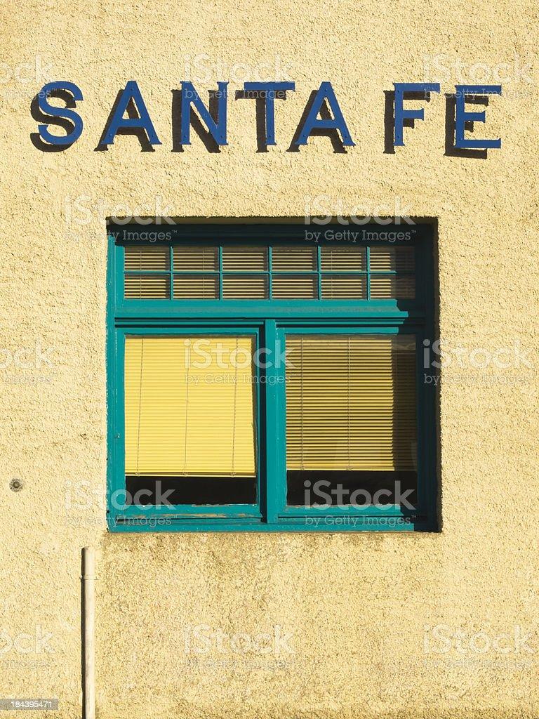 Santa Fe window stock photo
