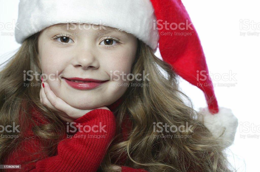 Santa Girl 0023 royalty-free stock photo