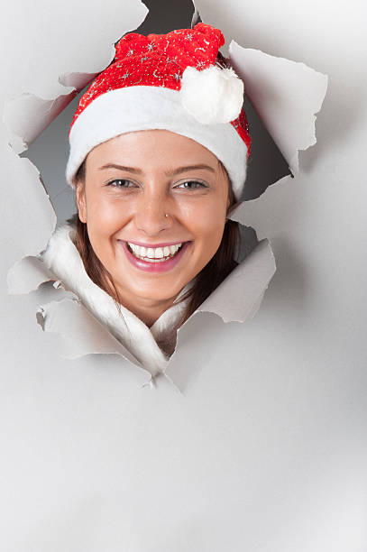 Top 60 Face In A Hole Christmas Stock Photos, Pictures, and