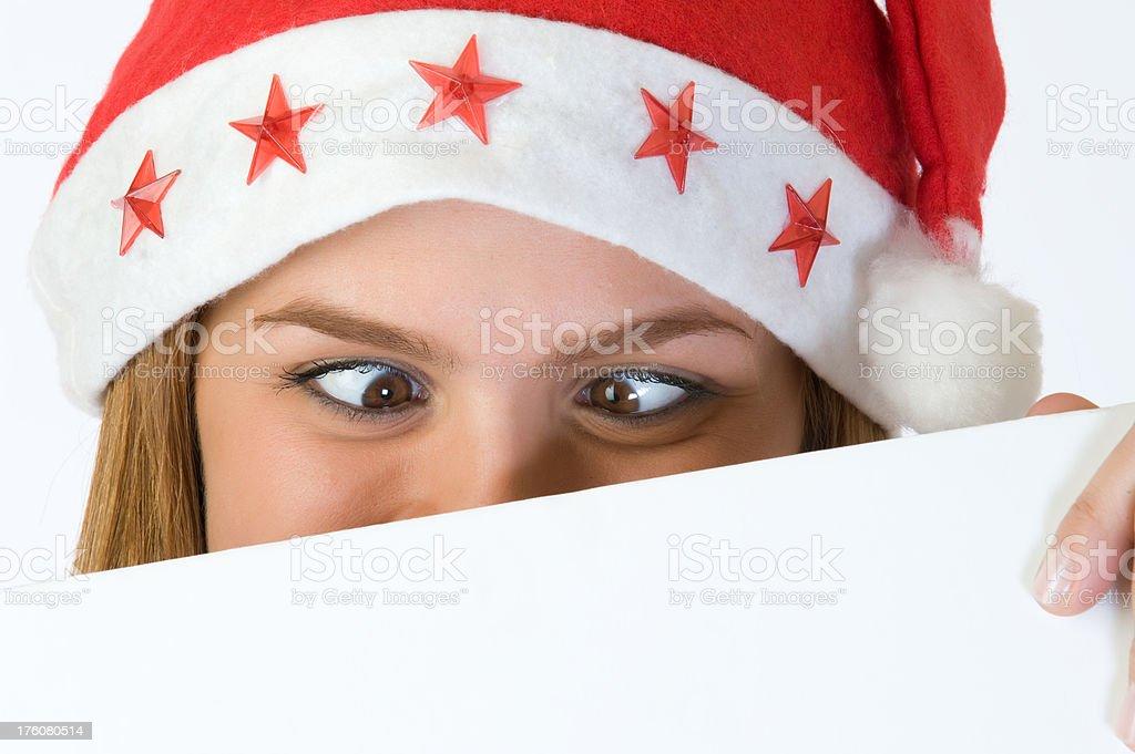 Santa girl royalty-free stock photo