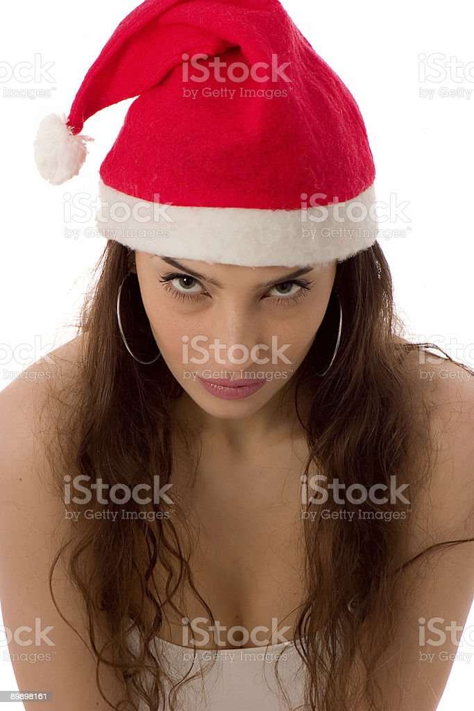 Santa Girl royalty free stockfoto
