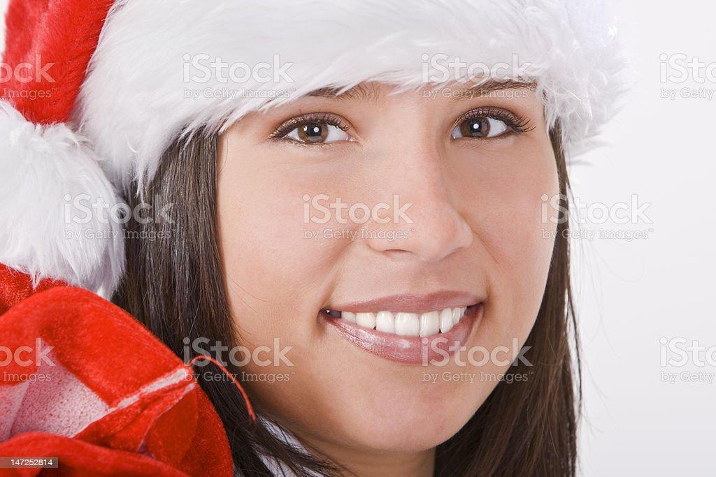 Santa girl portrait royalty-free stock photo