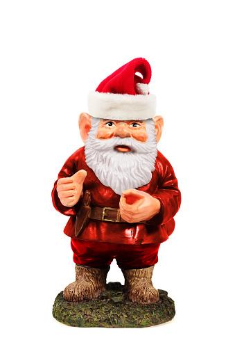 Santa Gnome on a white background.
