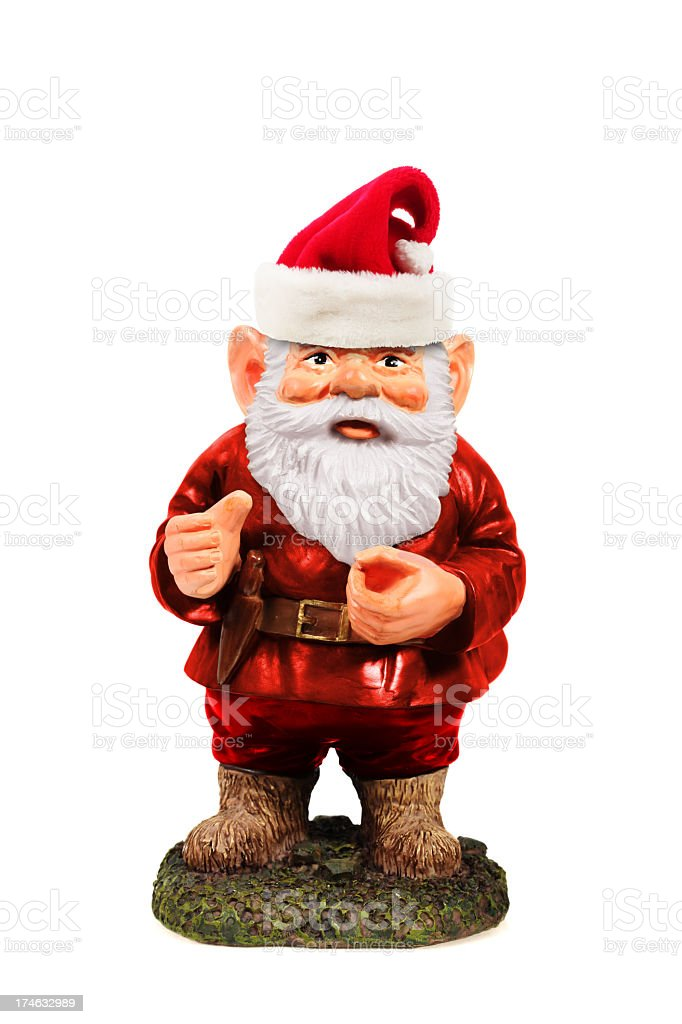 Santa Gnome stock photo