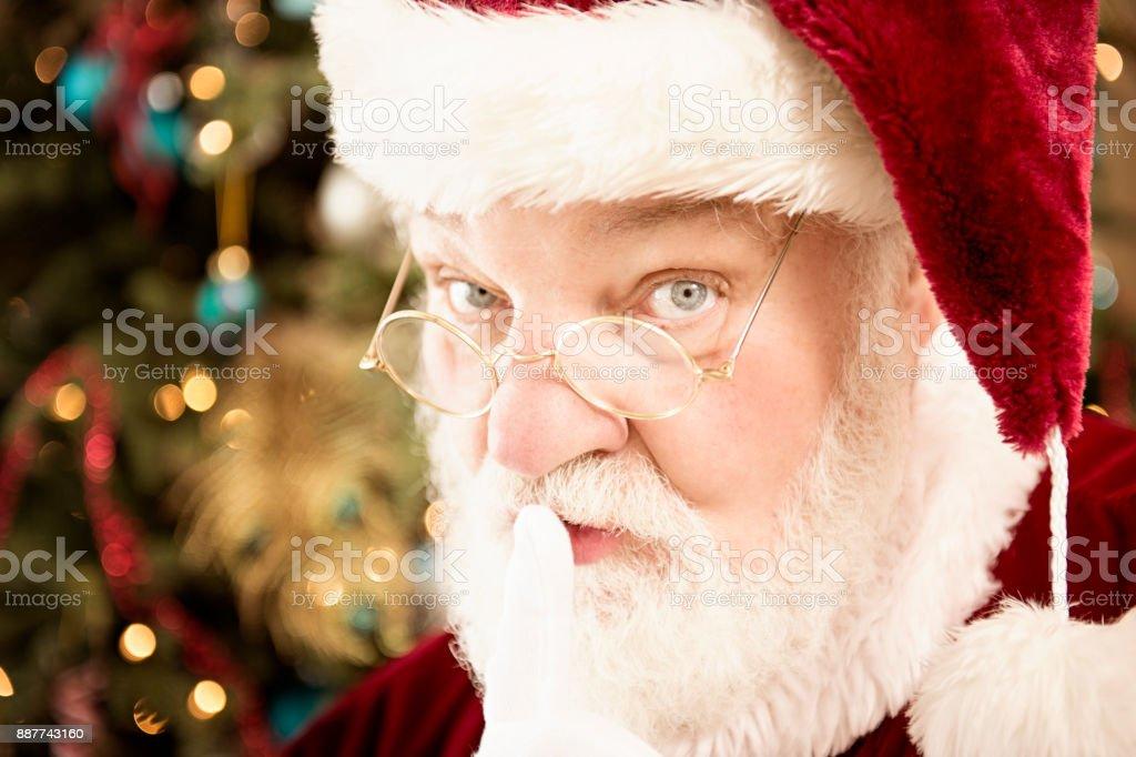 Santa Has A Secret  Shhhh stock photo