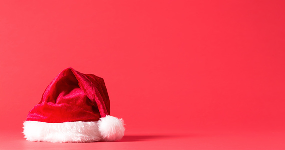 Santa Hat On A Bright Background Stock Photo - Download Image Now