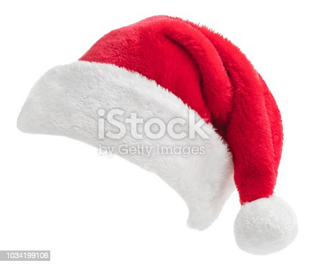 Santa Hat isolated on a white background.
