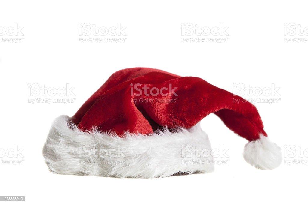 Santa hat on white stock photo
