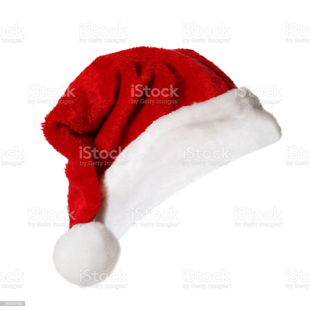 Santa Hat (on white) Santa Hat isolated on white. Cap - Hat Stock Photo