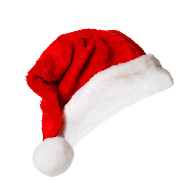Santa Hat (on white) Santa Hat isolated on white. santa hat stock pictures, royalty-free photos & images